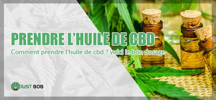 PRENDRE L'HUILE DE CBD