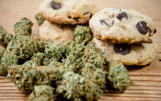 Biscuits à base de cannabis légal.