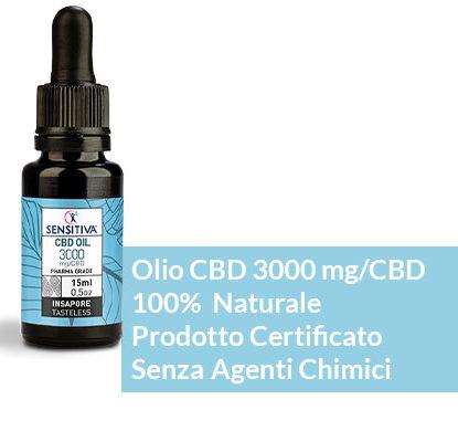 Description Huile de CBD au format 15 ml | 20% - Sensitiva